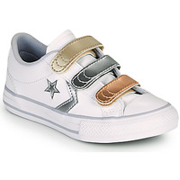 Sko Pige Lave sneakers Converse STAR PLAYER 3V METALLIC LEATHER OX Hvid