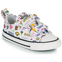 Sko Pige Lave sneakers Converse CHUCK TAYLOR ALL STAR 2V GIRLS GAMER OX Hvid / Flerfarvet