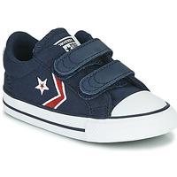 Sko Dreng Lave sneakers Converse STAR PLAYER 2V TEXTILE DISTORT OX Blå / Rød