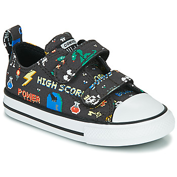 Sko Dreng Lave sneakers Converse CHUCK TAYLOR ALL STAR 2V BOYS GAMER OX Sort / Flerfarvet