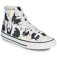 Sko Børn Høje sneakers Converse CHUCK TAYLOR ALL STAR GOING BANANAS HI Hvid / Flerfarvet