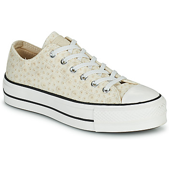 Sko Dame Lave sneakers Converse CHUCK TAYLOR ALL STAR LIFT CANVAS BRODERIE OX Hvid