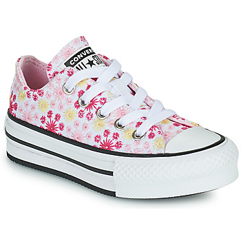 Sko Pige Lave sneakers Converse CHUCK TAYLOR ALL STAR EVA LIFT CANVAS BRODERIE OX Hvid / Pink