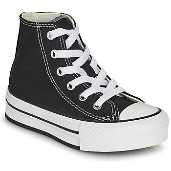 Sko Pige Høje sneakers Converse CHUCK TAYLOR ALL STAR EVA LIFT CANVAS COLOR HI Sort