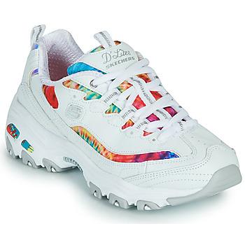 Sko Dame Lave sneakers Skechers D'LITES SUMMER FIESTA Hvid / Flerfarvet