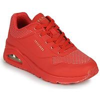 Sko Dame Lave sneakers Skechers UNO STAND ON AIR Rød