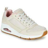 Sko Dame Lave sneakers Skechers UNO INSIDE MATTERS Beige / Pink