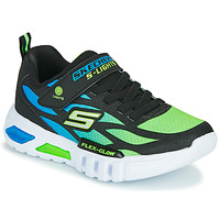 Sko Dreng Lave sneakers Skechers FLEX-GLOW Sort / Blå / Grøn
