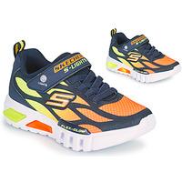 Sko Dreng Lave sneakers Skechers FLEX-GLOW Marineblå / Orange