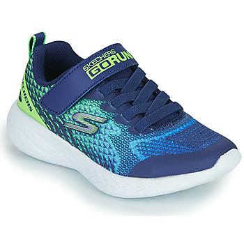Sko Dreng Lave sneakers Skechers GO RUN 600 Blå / Grøn
