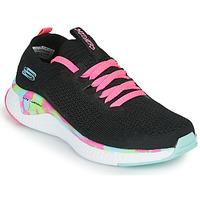 Sko Pige Lave sneakers Skechers SOLAR FUSE Sort / Pink