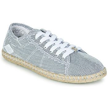 Sko Dame Lave sneakers Le Temps des Cerises BEACH Blå / Hvid