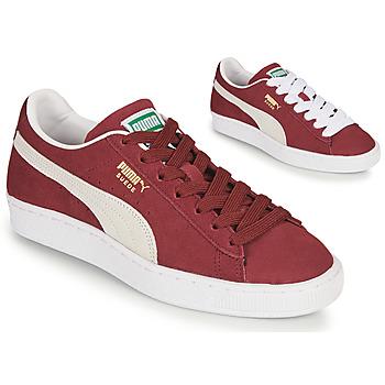 Sko Lave sneakers Puma SUEDE Bordeaux