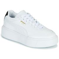 Sko Dame Lave sneakers Puma CALI OSLO Hvid / Sort