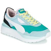 Sko Dame Lave sneakers Puma CRUISE RIDER SILK Blå / Hvid / Sort