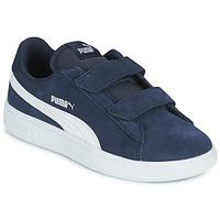Sko Børn Lave sneakers Puma SMASH PS Blå