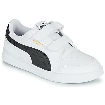 Sko Børn Lave sneakers Puma SHUFFLE PS Hvid / Sort