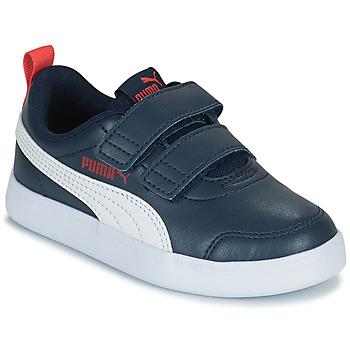 Sko Børn Lave sneakers Puma COURTFLEX PS Sort