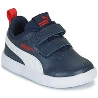 Sko Børn Lave sneakers Puma COURTFLEX INF Sort