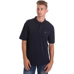 textil Herre Polo-t-shirts m. korte ærmer Les Copains 9U9015 Blå