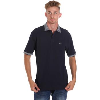 textil Herre Polo-t-shirts m. korte ærmer Les Copains 9U9024 Blå