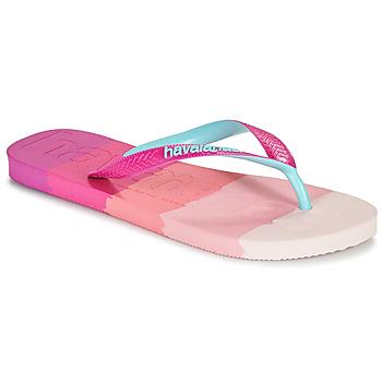 Sko Dame Klipklapper  Havaianas TOP LOGOMANIA MULTICOLOR Pink