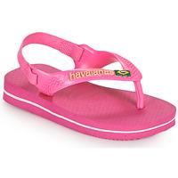 Sko Pige Klipklapper  Havaianas BABY BRASIL LOGO II Pink