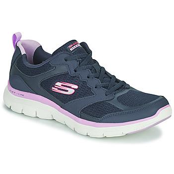 Sko Dame Lave sneakers Skechers FLEX APPEAL 4.0 Navy / Pink