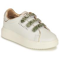 Sko Dame Lave sneakers Serafini CONNORS Hvid / Guld / Grøn