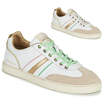 Sko Dame Lave sneakers Serafini COURT Hvid / Guld