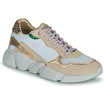 Sko Dame Lave sneakers Serafini OREGON Hvid / Guld