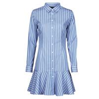 textil Dame Korte kjoler Lauren Ralph Lauren TRIELLA Blå / Hvid