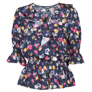 textil Dame Skjorter / Skjortebluser Lauren Ralph Lauren HELZIRA Blå / Flerfarvet