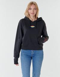 textil Dame Sweatshirts Vans WM OVAL TEEN HOODIE Sort
