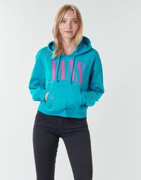 textil Dame Sweatshirts Vans WM KAYE CROP HOODIE Emalje / Blå