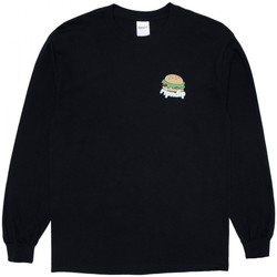 textil Herre Langærmede T-shirts Ripndip Fat hungry baby long sleeve Sort