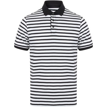 textil Herre Polo-t-shirts m. korte ærmer Front Row FR230 White/Navy
