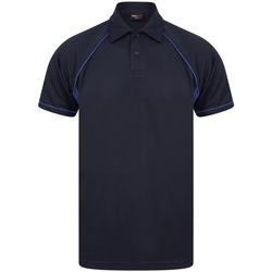 textil Herre Polo-t-shirts m. korte ærmer Finden & Hales LV370 Navy/Royal Blue