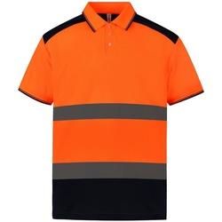 textil Polo-t-shirts m. korte ærmer Yoko YK017 Orange/Navy