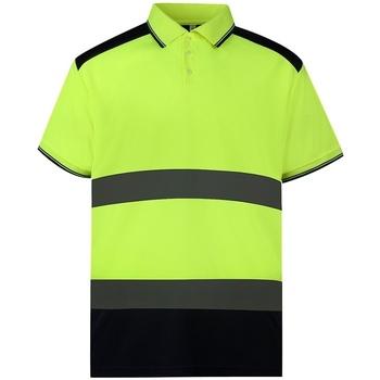 textil Polo-t-shirts m. korte ærmer Yoko YK017 Yellow/Navy