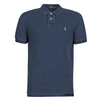 textil Herre Polo-t-shirts m. korte ærmer Polo Ralph Lauren POLO AJUSTE DROIT EN COTON BASIC Blå