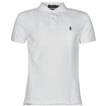 textil Herre Polo-t-shirts m. korte ærmer Polo Ralph Lauren POLO CINTRE SLIM FIT EN COTON BASIC MESH LOGO PONY PLAYER Hvid