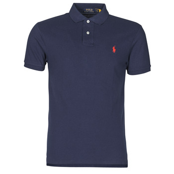textil Herre Polo-t-shirts m. korte ærmer Polo Ralph Lauren POLO CINTRE SLIM FIT EN COTON BASIC MESH LOGO PONY PLAYER Marineblå
