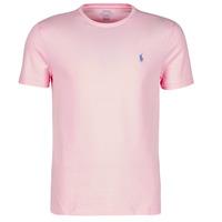 textil Herre T-shirts m. korte ærmer Polo Ralph Lauren T-SHIRT AJUSTE COL ROND EN COTON LOGO PONY PLAYER Pink / Karamel