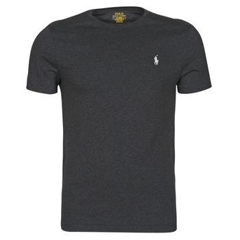 textil Herre T-shirts m. korte ærmer Polo Ralph Lauren T-SHIRT AJUSTE COL ROND EN COTON LOGO PONY PLAYER Sort