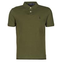 textil Herre Polo-t-shirts m. korte ærmer Polo Ralph Lauren POLO AJUSTE DROIT EN COTON BASIC MESH LOGO PONY PLAYER Kaki