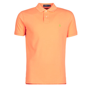 textil Herre Polo-t-shirts m. korte ærmer Polo Ralph Lauren POLO AJUSTE DROIT EN COTON BASIC MESH LOGO PONY PLAYER Orange