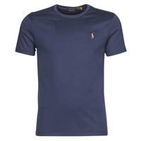 textil Herre T-shirts m. korte ærmer Polo Ralph Lauren T-SHIRT AJUSTE COL ROND EN PIMA COTON LOGO PONY PLAYER MULTICOLO Blå