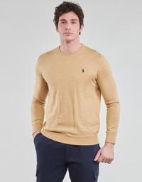 textil Herre Pullovere Polo Ralph Lauren PULL COL ROND AJUSTE EN COTON PIMA LOGO PONY PLAYER Kamel