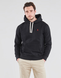 textil Herre Sweatshirts Polo Ralph Lauren SWEAT A CAPUCHE MOLTONE EN COTON LOGO PONY PLAYER Sort